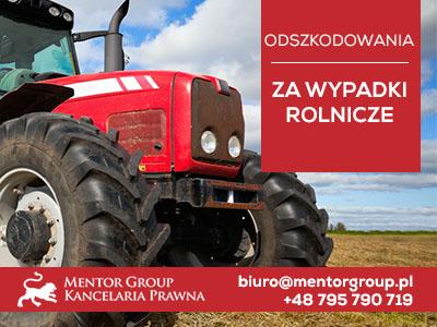 odszkodowanie zawypadek rolniczy